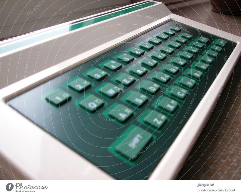 DV-Steinzeit alt grün Computer Technik & Technologie Tastatur Elektrisches Gerät Steinzeit
