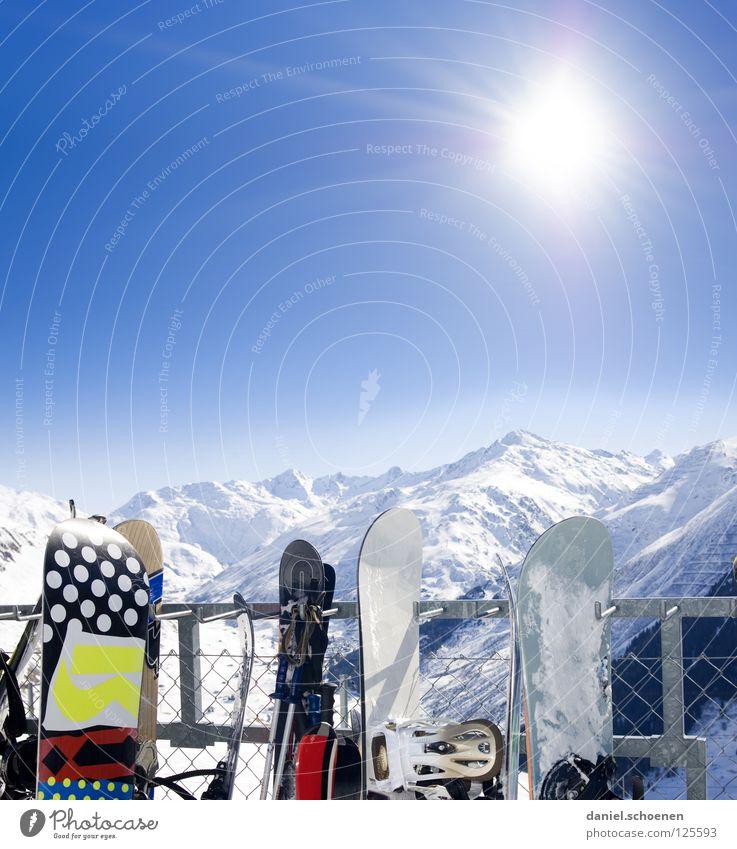 diese Woche gibt`s Neuschnee !!! Sonnenstrahlen Winter Snowboard weiß Gipfel Pause Wintersport Freizeit & Hobby Ferien & Urlaub & Reisen Hintergrundbild Schweiz