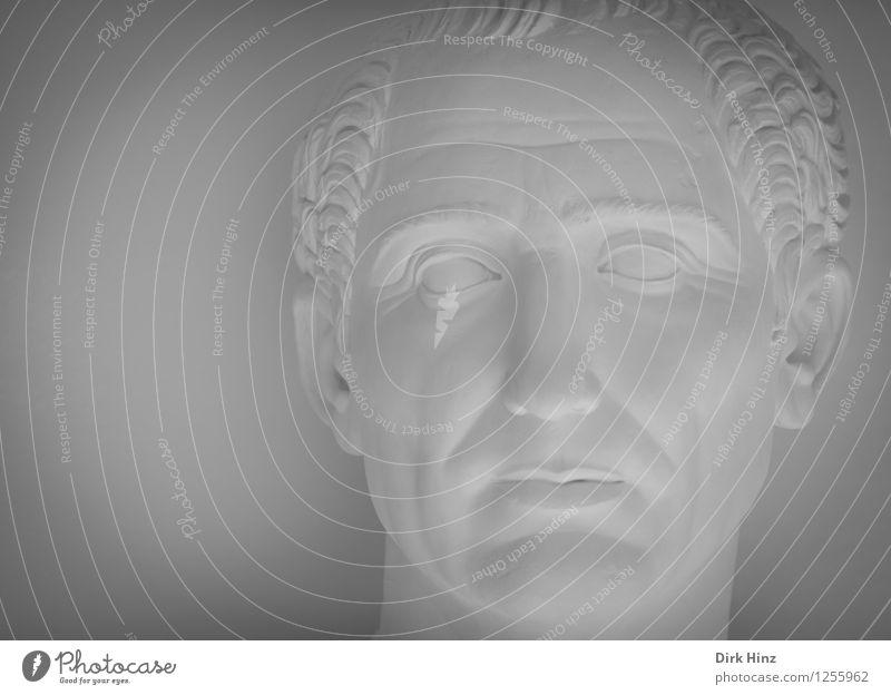 Herrscher Mensch Mann alt weiß Erwachsene grau Kopf Kunst maskulin 45-60 Jahre Italien Kultur Macht historisch Vergangenheit Statue