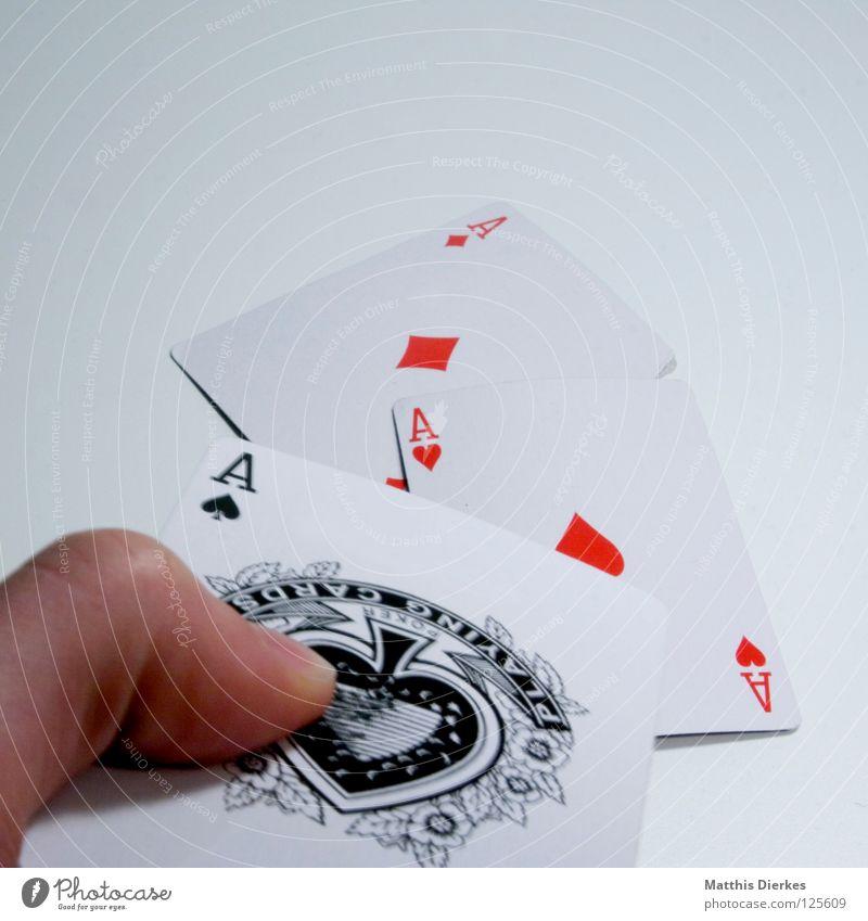 AAA Spielkarte Ass Glücksspiel Poker Rückseite Eisenbahn Lotterie Zufall zufällig ungewiss betrügen Drogenhandel Pokerface Spielkasino Skat Spielen Spieler