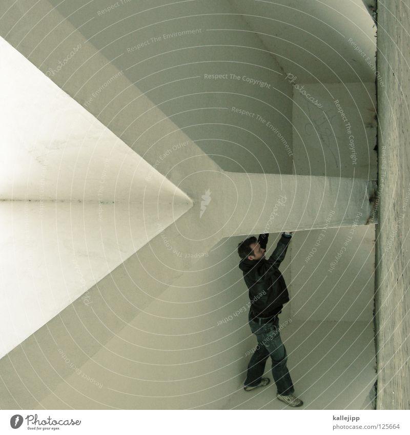 herr ypsilanti Buchstaben Mann Silhouette Dieb Krimineller Rampe Laderampe Fußgänger Schacht Tunnel Untergrund Ausbruch Flucht umfallen Fenster Parkhaus