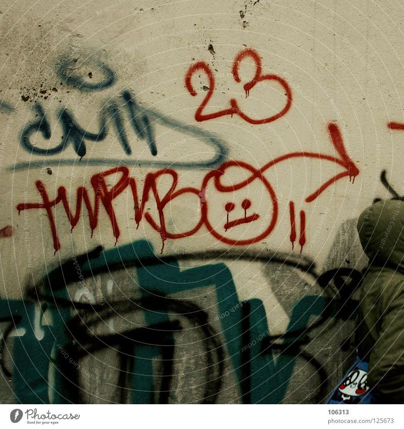 HELLO FROM DRESDEN. FOR TURBO [AND LITTLE MADO] Umwelt Stadt Leipzig alternativ 23 Dresden Gruß Kapuze Straßenkunst Schmiererei Neustadt Graffiti dreckig
