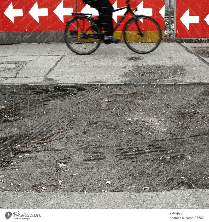 rinks und lechts Richtung fahren Geisterfahrer Kamikazeflieger unterwegs Mobilität Navigation falsch gegen rechts links Orientierung Fahrrad Fahrradfahren