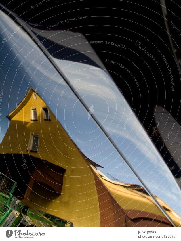 realitätsverlust Haus Stil Gebäude Linie Wohnung modern Häusliches Leben Stadtleben Dynamik Surrealismus live Haarschnitt schwingen Verzerrung Traumwelt