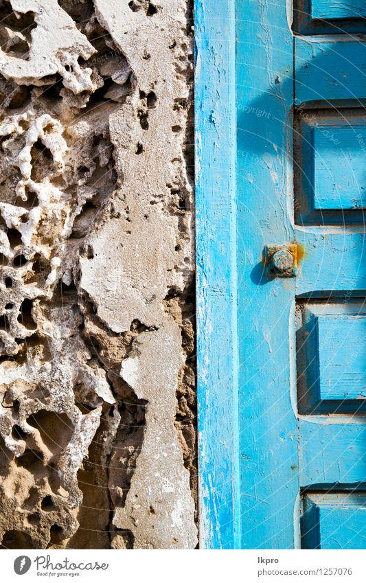 Metall braun Marokko in Stil Design Dekoration & Verzierung Gebäude Architektur Tür alt dreckig retro blau Sicherheit Schutz Geborgenheit Schloss Zugang