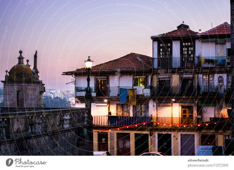 Porto IV Ferien & Urlaub & Reisen Stadt alt blau schön Sommer Erholung rot ruhig Haus Ferne Wand Mauer Freiheit Fassade Tourismus