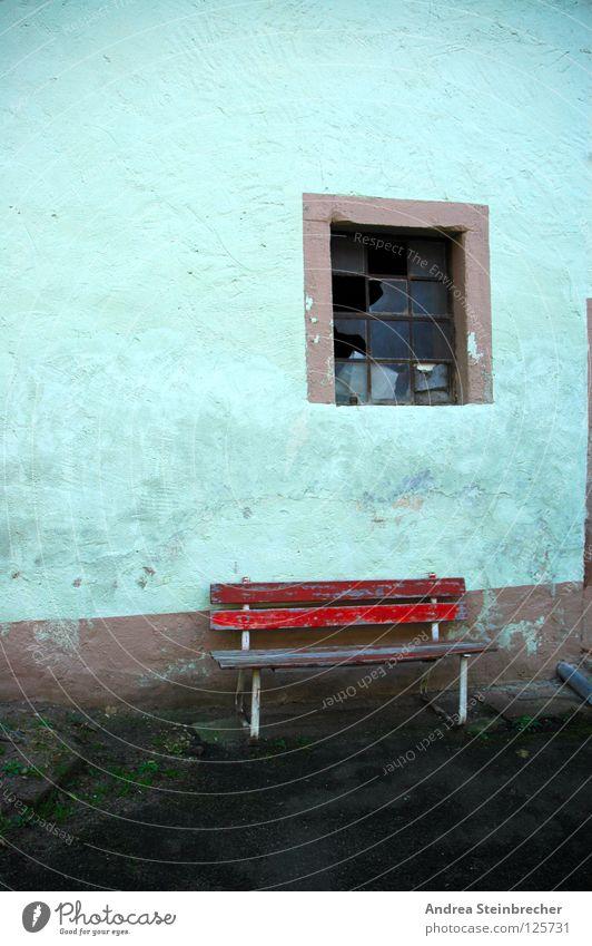 Rota Bank ruhig Farbe Fenster Pause Vergänglichkeit verfallen