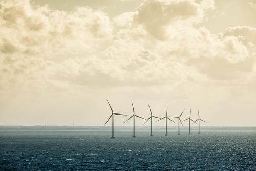 Windräder Natur Sonne Meer Landschaft Wolken Umwelt Küste Energie Ostsee Windkraftanlage