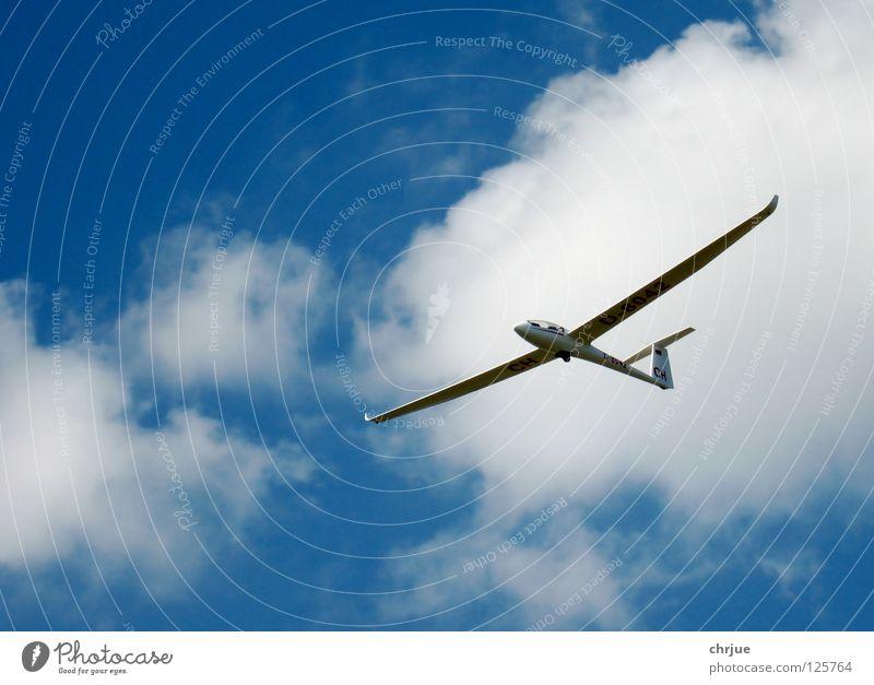LS4 im Endanflug Himmel Wolken Flugzeug Freizeit & Hobby Segelflugzeug