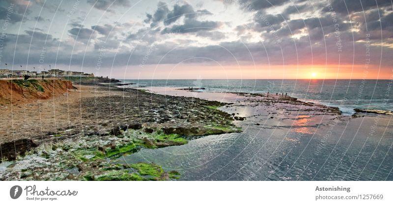 Sonnenuntergang Himmel Natur Stadt blau Pflanze Sommer Wasser Meer Landschaft Wolken Haus Strand dunkel Umwelt gelb Küste
