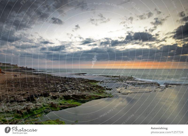 nach Sonnenuntergang Umwelt Natur Landschaft Wasser Himmel Wolken Nachthimmel Horizont Sonnenaufgang Sommer Wetter Felsen Wellen Küste Meer Atlantik Rabat