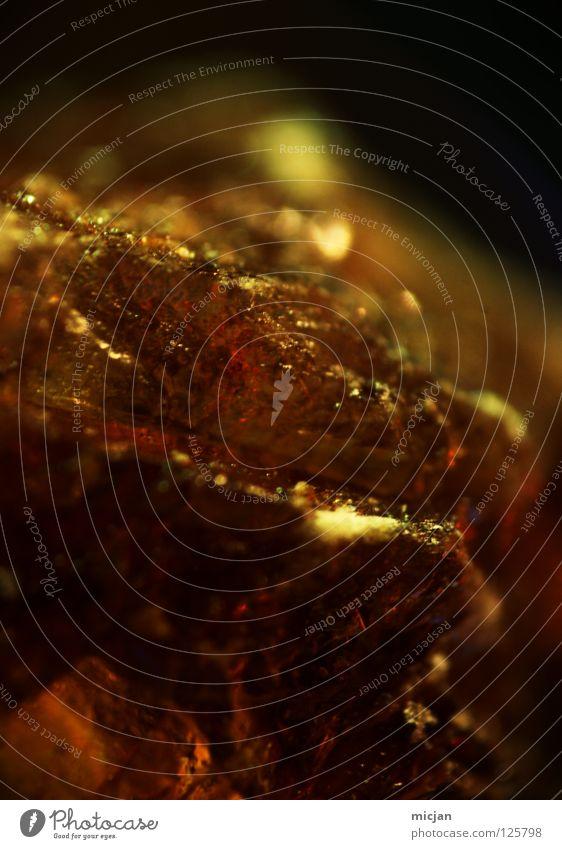 SugarRock schön schwarz Ernährung gelb Stein braun glänzend gold groß Felsen süß Macht Süßwaren gebrochen edel Kristallstrukturen
