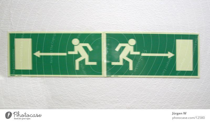 Wohin? wohin Notausgang Richtung links rechts Schilder & Markierungen Hinweisschild Mensch Pfeil Where to go Emergency-Exit Sign Direction Arrow lefr right