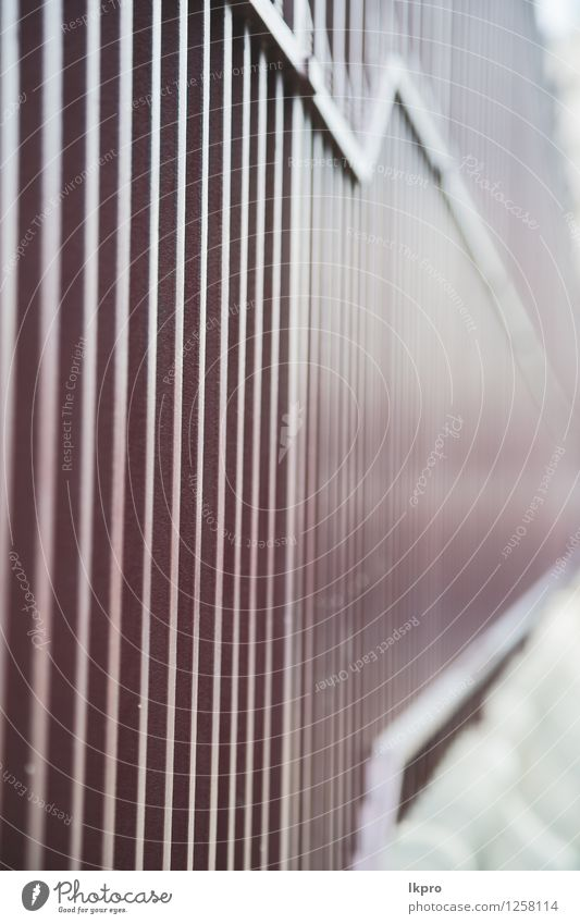 Geländer Stahl und Hintergrund alt weiß schwarz grau Linie Metall Design Dekoration & Verzierung Perspektive Industrie Schutz Zaun Barriere Rost Material