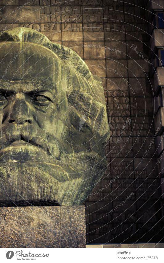 500 Chemnitz Kopf Statue Denkmal Wahrzeichen Kunst Kommunismus Marktwirtschaft Philosophie schwarz grau links Sozialismus Kapitalismus Arbeiter Unterdrückung