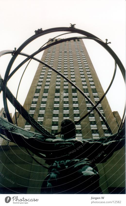 Atlas, New York Rockefeller Center New York City Amerika rund Globus Hochhaus Nordamerika USA statute america circle Ball globe building