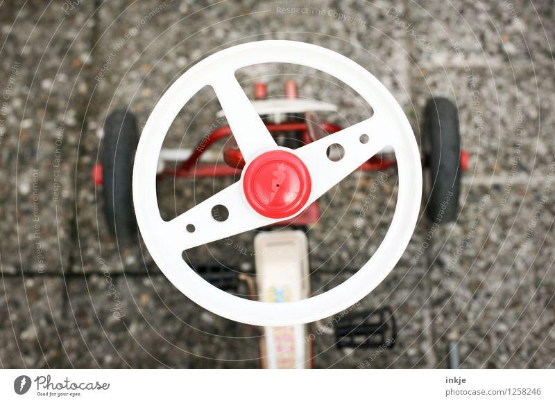 Kettcar 1 Lifestyle Design Freizeit & Hobby Spielen Kinderspiel Kindergarten Lenkrad Hupe alt retro rot weiß Nostalgie Siebziger Jahre achziger Jahre früher