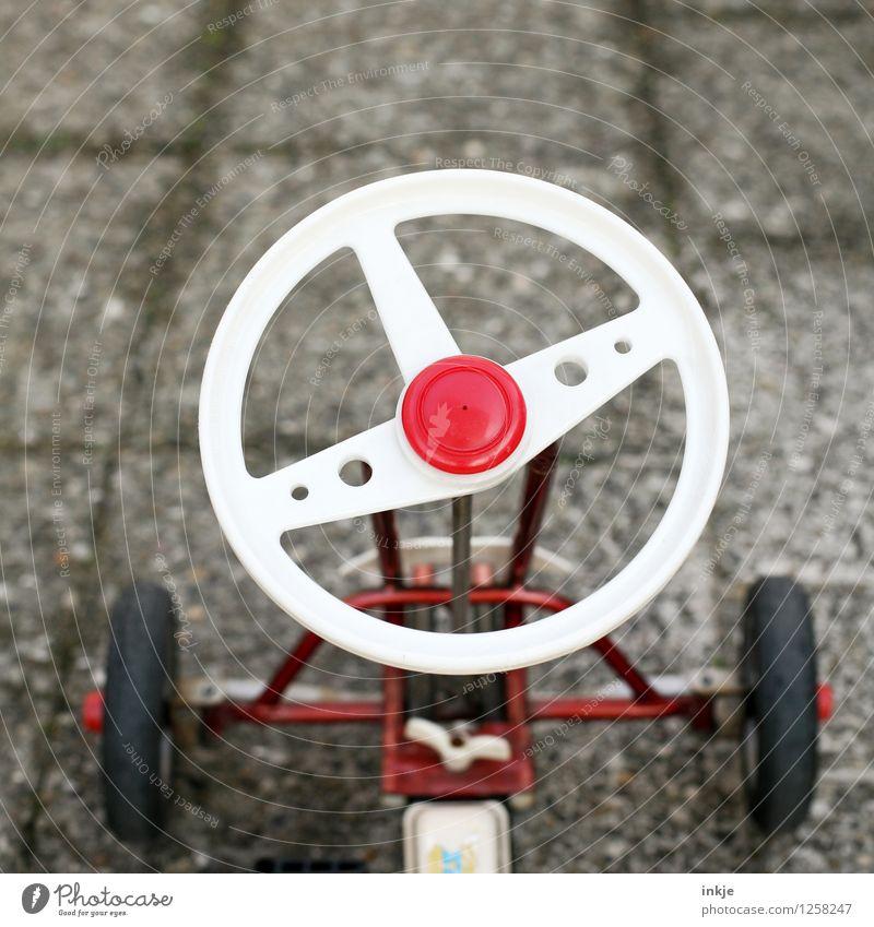 Kettcar 2 Lifestyle Design Freizeit & Hobby Spielen Kinderspiel Kindergarten Spielzeug Lenkrad Hupe alt Originalität rot weiß Kindheit Nostalgie