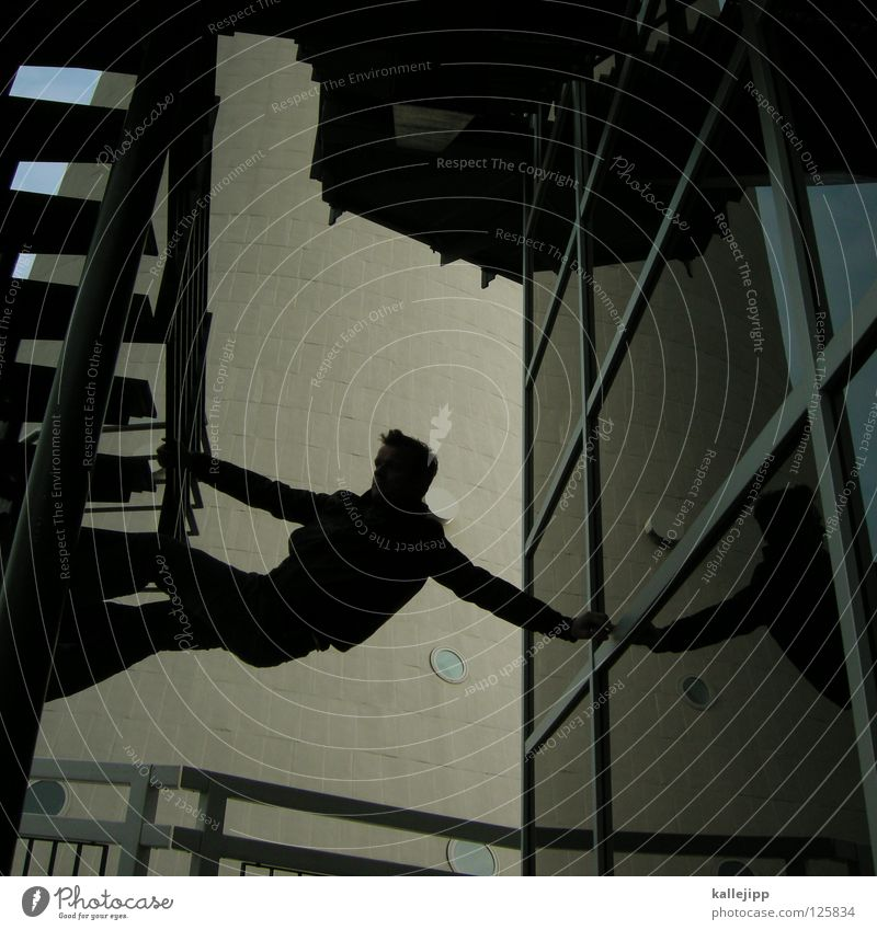 stepssurfer Mensch Himmel Mann Hand Haus Fenster Berge u. Gebirge Gefühle Architektur springen See Lampe Luft Linie Tanzen Glas