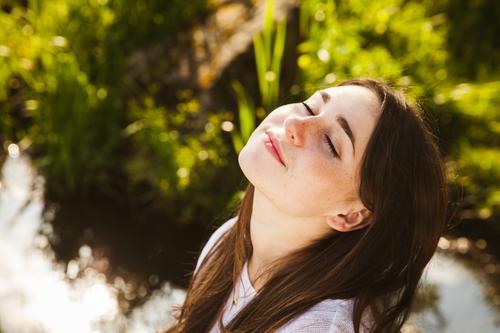 Genießen - solange noch Sommer ist Glück schön Gesicht Gesundheit harmonisch Wohlgefühl Zufriedenheit Sinnesorgane Erholung ruhig Meditation