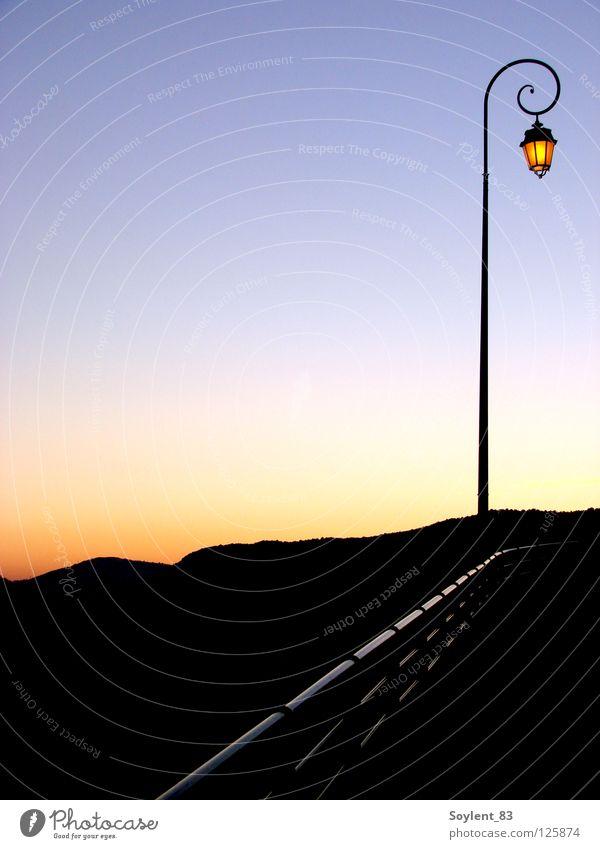 coucher de soleil ruhig Lampe Berge u. Gebirge Idylle Laterne Frankreich Himmelskörper & Weltall Alpes Maritimes