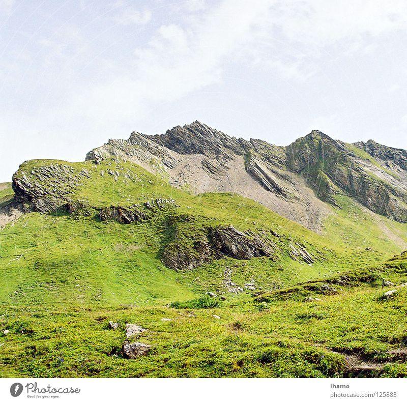 Es grünt noch mehr.. Wiese Sommer See Berner Oberland Grindelwald Schweiz Berge u. Gebirge Alm Alpkäse Sennhütte blau hoch Hagel Neigung