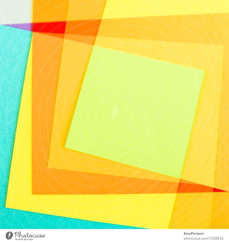 überlagert elegant Stil Design Freizeit & Hobby Spielen Basteln Zeichen Linie ästhetisch hell blau mehrfarbig gelb grün orange rot türkis Farbe