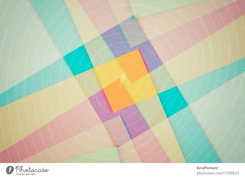 layer elegant Stil Design Basteln Kunst Linie ästhetisch hell blau mehrfarbig gelb grün orange rot türkis weiß Farbe Strukturen & Formen gestalten graphisch