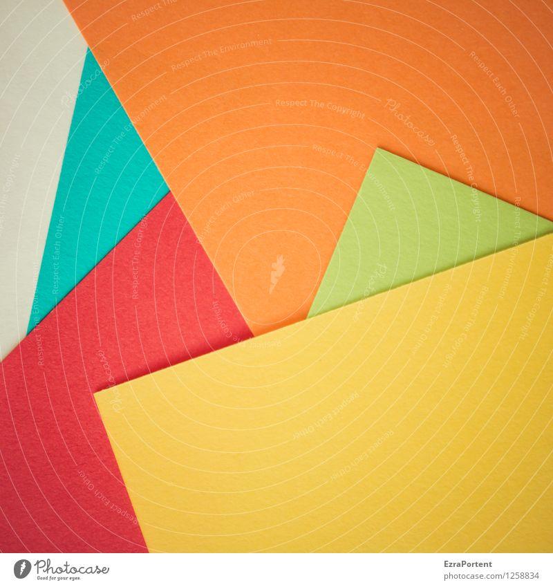 bunt around Stil Design Freizeit & Hobby Basteln Linie ästhetisch hell blau mehrfarbig gelb grün orange rot türkis weiß Farbe Strukturen & Formen