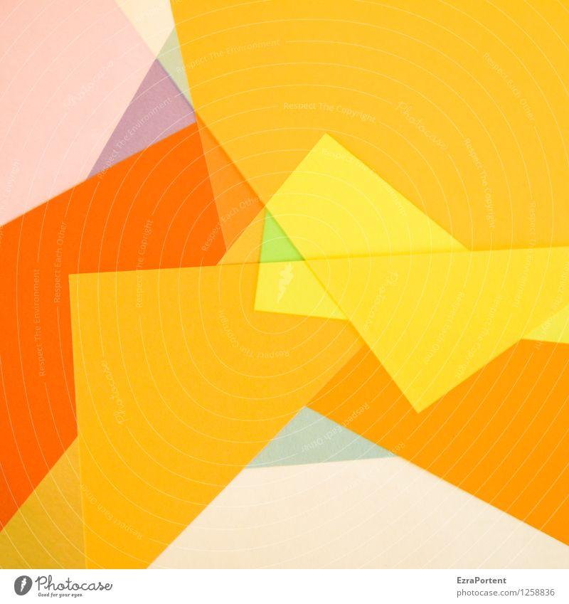 Vielfalt I elegant Stil Design Freizeit & Hobby Spielen Basteln Zeichen Linie ästhetisch eckig gelb orange Farbe Strukturen & Formen Werbung Vielfältig