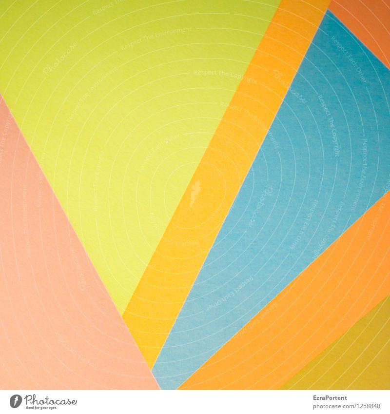les Alpes elegant Stil Design Freizeit & Hobby Spielen Basteln Landschaft Berge u. Gebirge Zeichen Linie ästhetisch eckig blau mehrfarbig gelb orange Farbe
