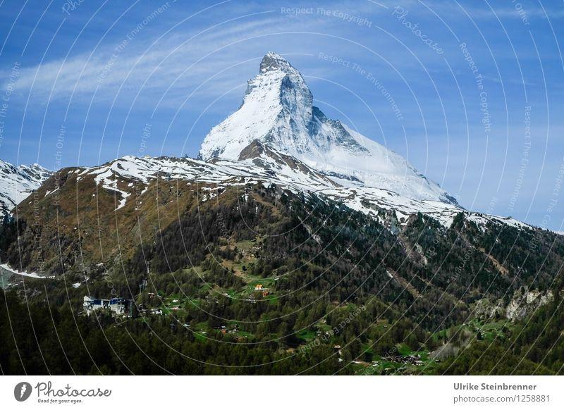Der Berg rief 3 Ferien & Urlaub & Reisen Tourismus Sommerurlaub Schnee Berge u. Gebirge wandern Umwelt Natur Landschaft Frühling Schönes Wetter Alpen Matterhorn
