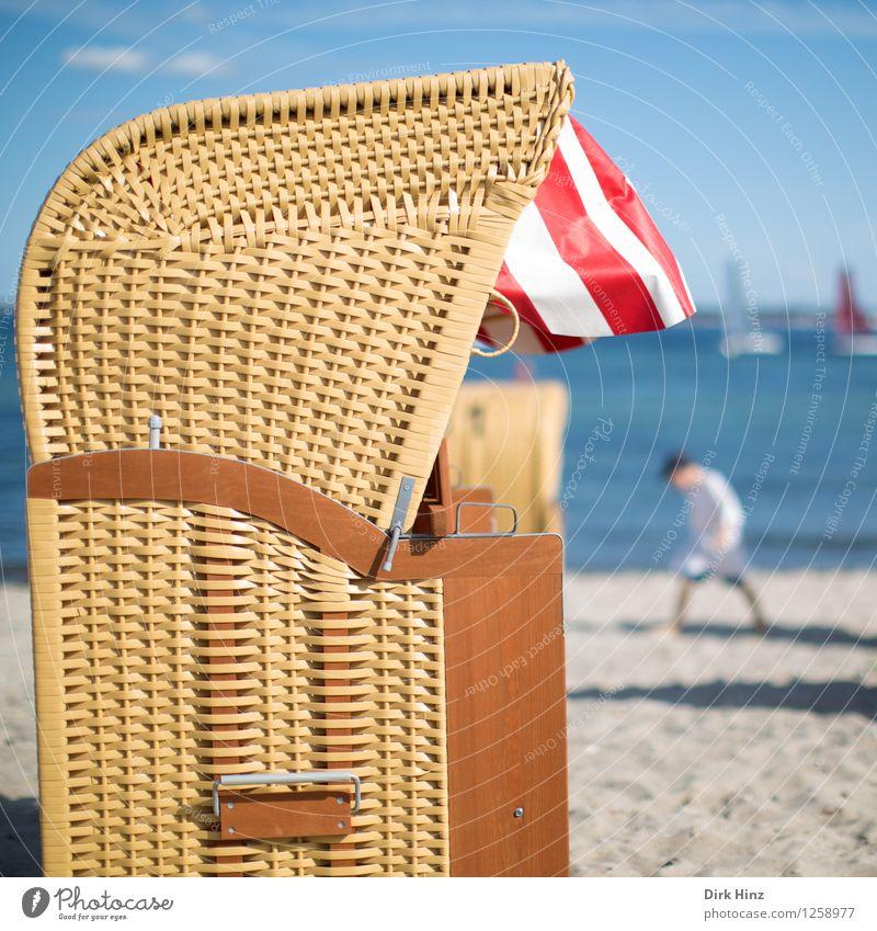 Endlich Sommer! Mensch Himmel Kind Natur blau Wasser Sonne Meer Freude Strand Umwelt Leben Küste Gesundheit Glück