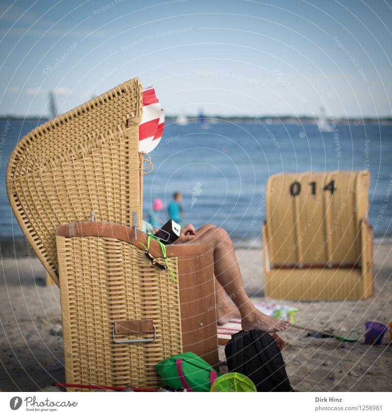 Strandleben Ferien & Urlaub & Reisen blau Sommer Sonne Erholung Meer Ferne Gesundheit Freiheit Lifestyle braun Gesundheitswesen Design Freizeit & Hobby