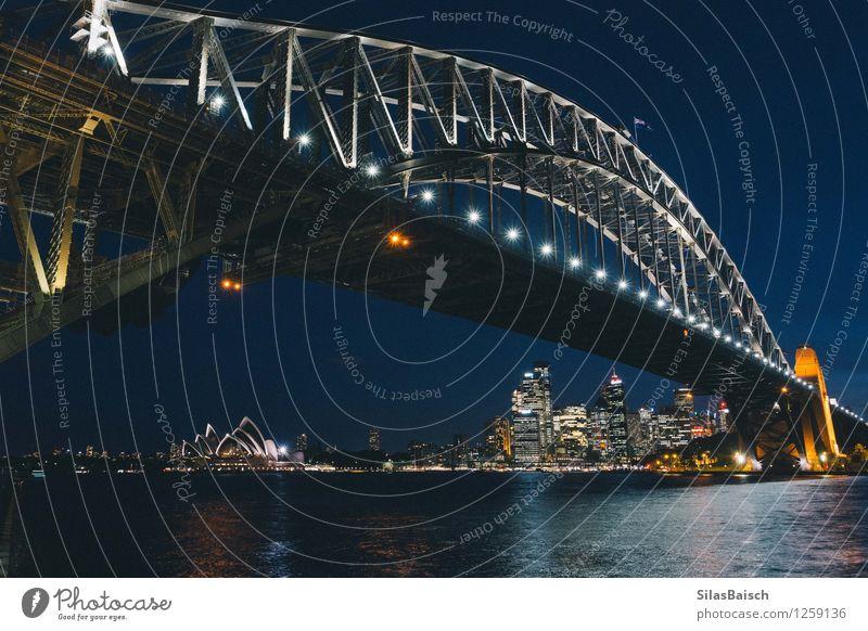 Sydney Opera House unter der Brücke Lifestyle elegant Stil Design Freude Ferien & Urlaub & Reisen Tourismus Ausflug Ferne Freiheit Sightseeing Städtereise