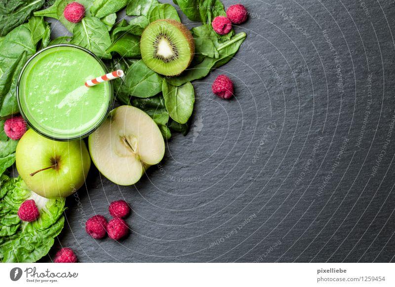 Grüner Smoothie schön Gesunde Ernährung Leben Gesundheit Lifestyle Lebensmittel Frucht Glas Getränk Küche trinken Wellness Gemüse Wohlgefühl Bioprodukte Apfel