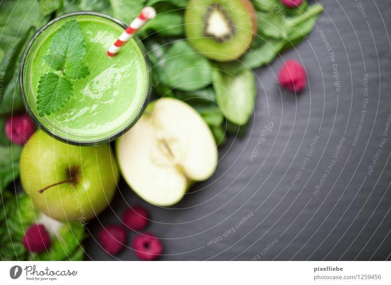 Hulks Frühstück schön grün Gesunde Ernährung Leben Gesundheit Lifestyle Lebensmittel Frucht frisch Glas Getränk Küche Wellness Gemüse Wohlgefühl Bioprodukte