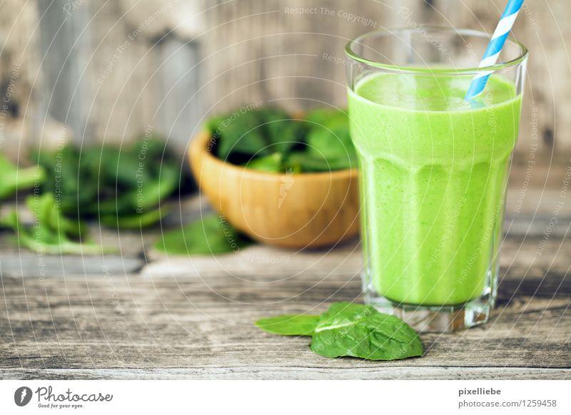 Grünes Frühstück schön Gesunde Ernährung Leben Holz Gesundheit Lifestyle Lebensmittel Glas Tisch Getränk Küche trinken Wellness Gemüse Wohlgefühl Bioprodukte