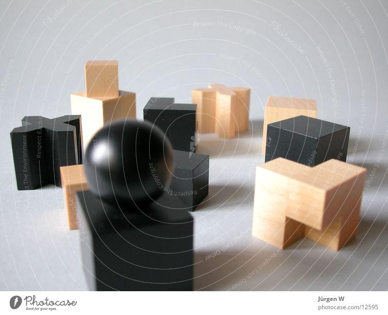 Bauhaus-Schachfiguren Spielen Architektur Holz Dinge Holzmehl