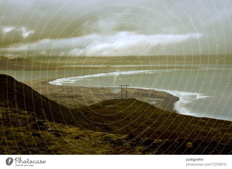 Island Himmel Natur Landschaft Wolken dunkel kalt Umwelt natürlich Küste außergewöhnlich wild Wetter Erde Klima Urelemente Bucht