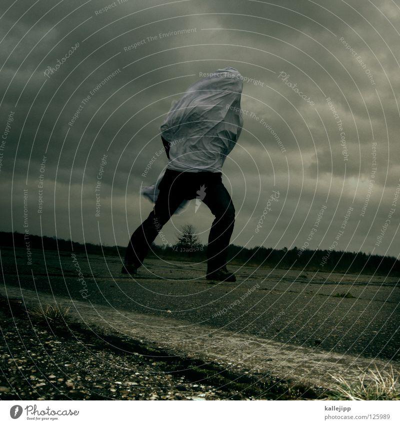 who the fuck is emma Mensch Mann weiß Wolken Einsamkeit Landschaft Luft Regen Wetter Wind Klima Schilder & Markierungen Energiewirtschaft nass Beton Beginn