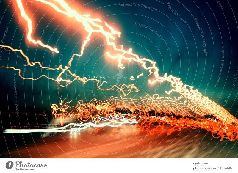 nach einem km rechts abbiegen Ereignisse Ferien & Urlaub & Reisen entdecken Aktion Licht Horizont schön Ferne Gedanke Langzeitbelichtung Nacht Zeit