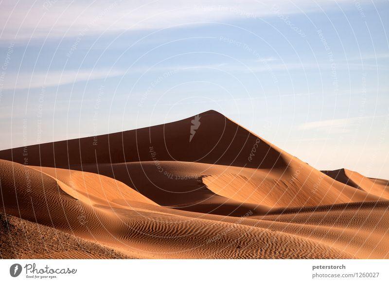 Düne 14 Ferien & Urlaub & Reisen Ferne Freiheit Natur Landschaft Sand Himmel Wüste Linie Struturen ästhetisch außergewöhnlich elegant exotisch fantastisch heiß
