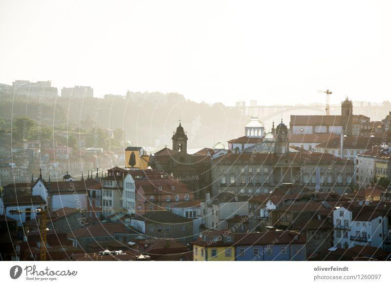 Porto V Himmel Ferien & Urlaub & Reisen Stadt schön Sommer Sonne Haus Ferne Wärme Architektur Gebäude Freiheit Horizont Tourismus ästhetisch Ausflug