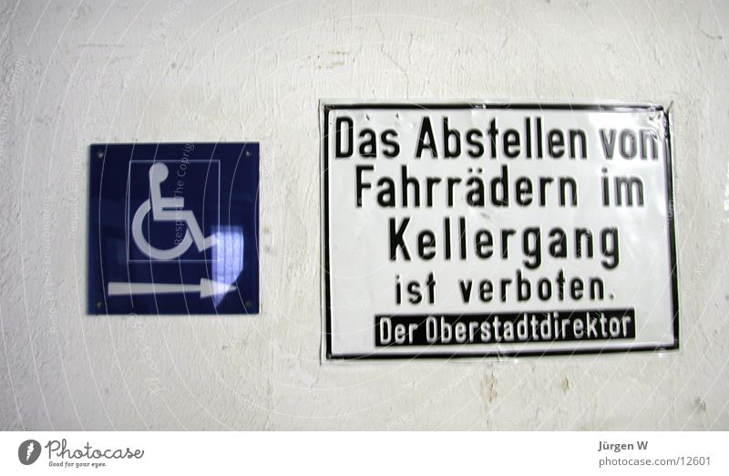 verboten Fahrrad Schilder & Markierungen Hinweisschild Symbole & Metaphern Typographie parken Verbote Rollstuhl