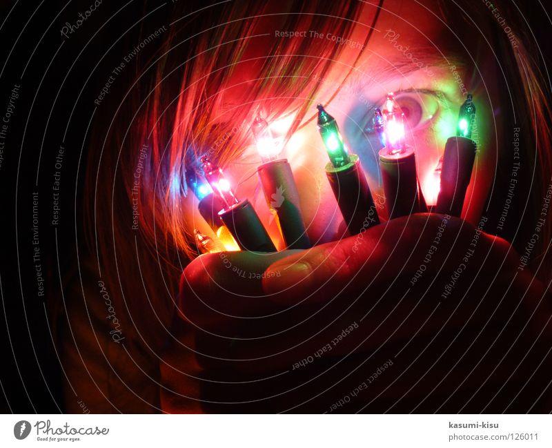 faszination lichterkette Weihnachten & Advent Mädchen dunkel verrückt Langeweile Lichterkette