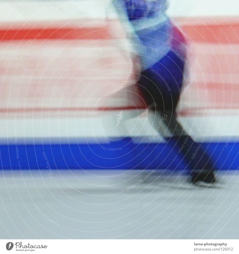 Race [PIXELS IN MOTION] Mensch weiß schwarz Sport Bewegung Eis Kunst elegant laufen rennen Geschwindigkeit fahren Rasen Fernseher Filmindustrie Fernsehen