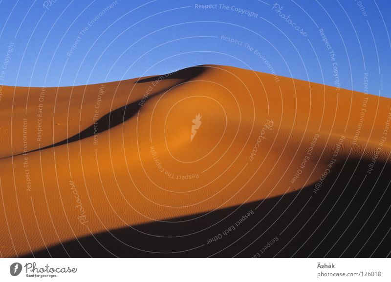 Düne Sand Afrika Wüste Stranddüne Schönes Wetter Abenddämmerung Dürre Sahara Niger