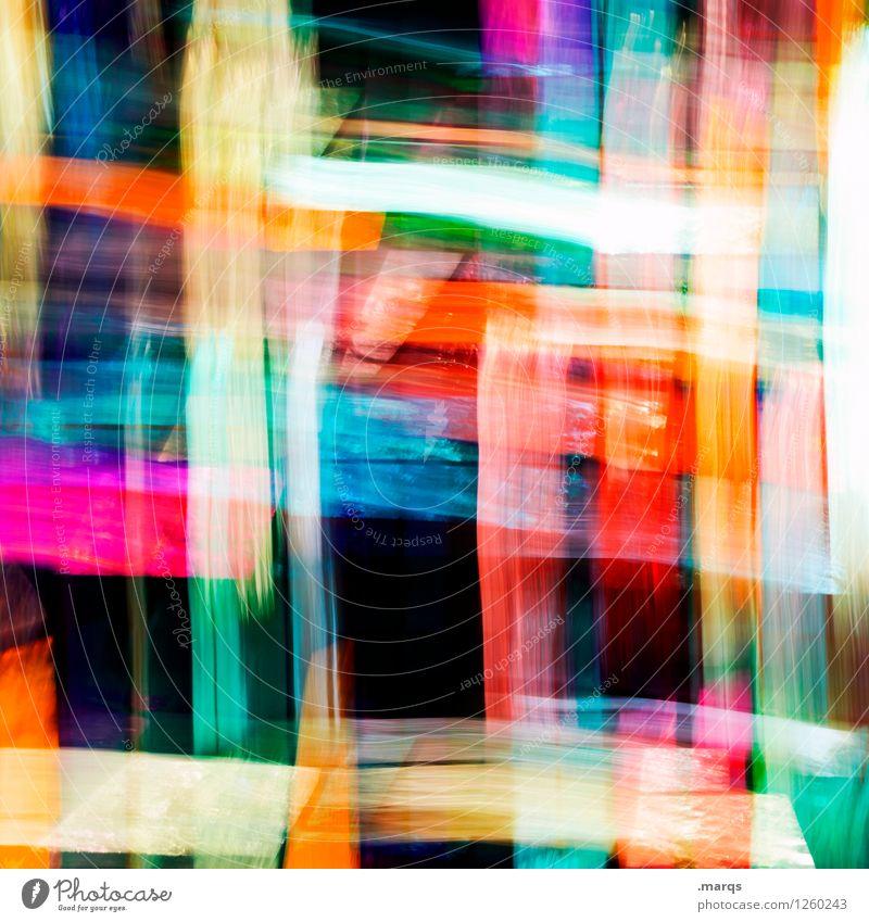 Rausch blau Farbe grün rot schwarz Hintergrundbild Lifestyle gelb Bewegung Stil Kunst außergewöhnlich orange Design Glas verrückt