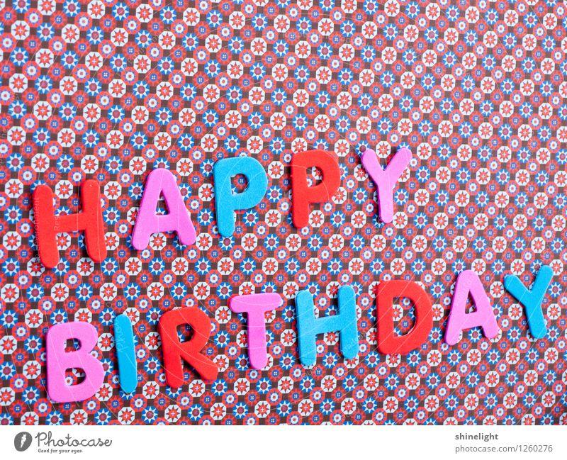 happy b-day Feste & Feiern Geburtstag blau mehrfarbig rosa rot Einladung einladen Happy Birthday Glückwünsche Gratulation Geburtstagswunsch Alles Gute